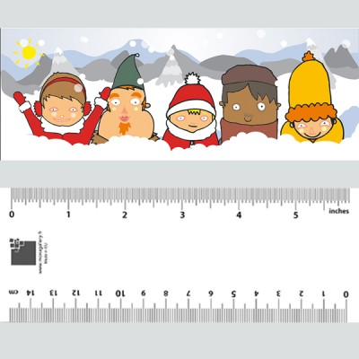 Kids In Snow Christmas Bookmark
