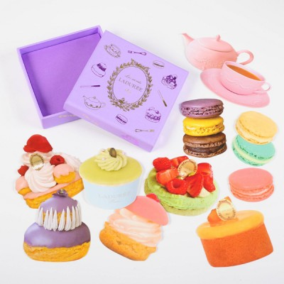 Stickers with box, Coll. des Patisseries, Ladurée // Purple