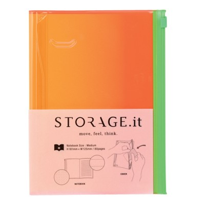 Notebook M, STORAGE.IT // Yellow gradation