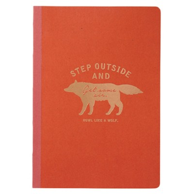A5 Notebook Zakka Collection - Red / Wolf