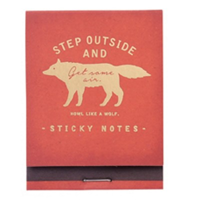 Sticky Notes Zakka Collection - Red / Wolf
