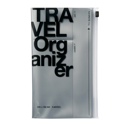 Travel organizer, TRAVEL KIT // Silver