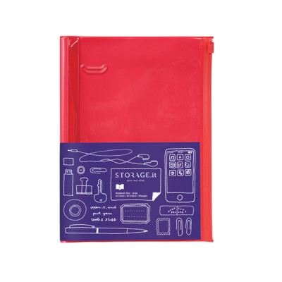 Notebook L, STORAGE.IT // Solid red