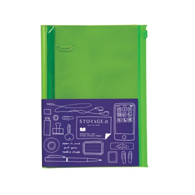 Notebook L, STORAGE.IT // Solid green