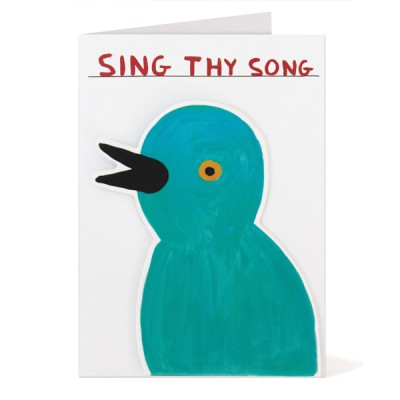 SING THY CARD PUFFY STICKER CARD DAVID SHRIGLEY