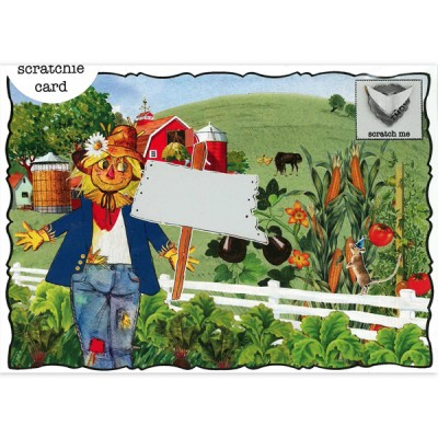 Scarecrow Birthday Scratchie Card