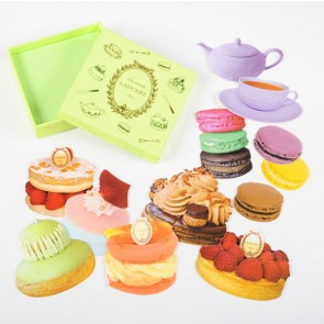 Stickers with box, Collection des Patisseries, Ladurée // Pistchio