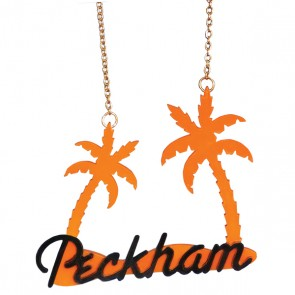 Orange/Black Peckham Palm Necklace